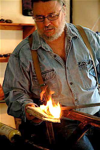 Bob Burch, glassblower