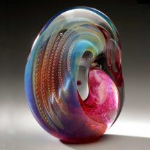 Handblown glass sculpture