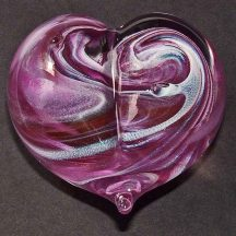Handblown glass paperweight.