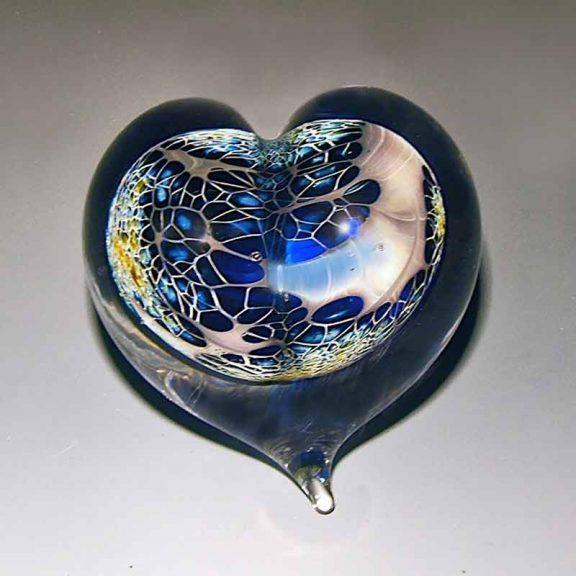 Cobalt Silver Veil Heart