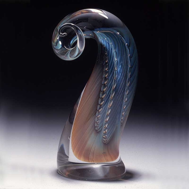 Majestic Horn Handblown glass Sculpture