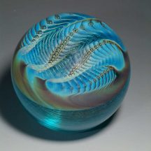 Pearl #2 - Hand blown glass paperweight