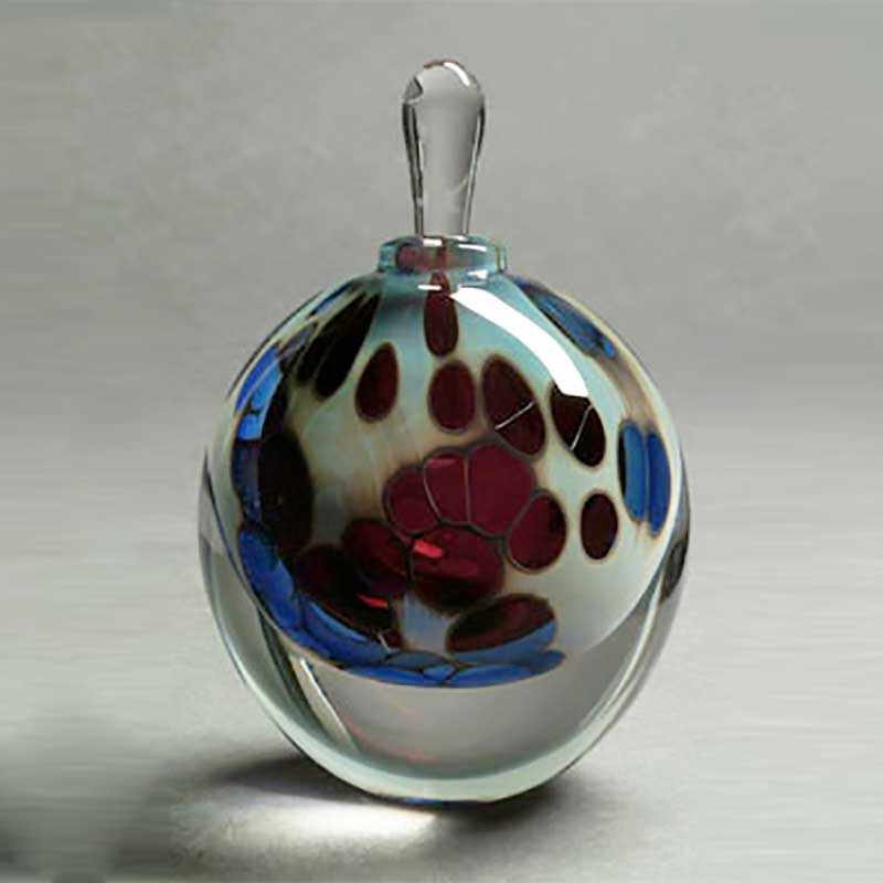 Windows of Ruby Handblown glass perfume bottle