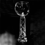 Wedding Goblet with twisted air bubbles in stem