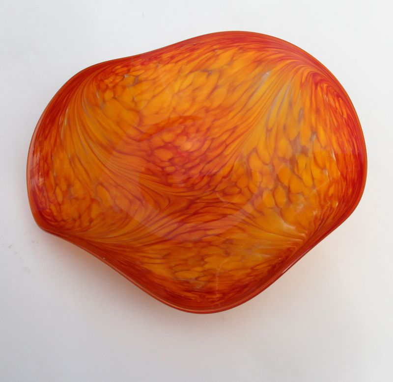hand blown glass platter