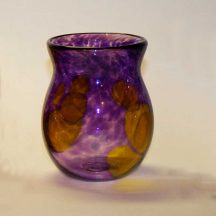 handblown tumbler - purple