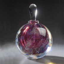 handblown glass perfume bottle