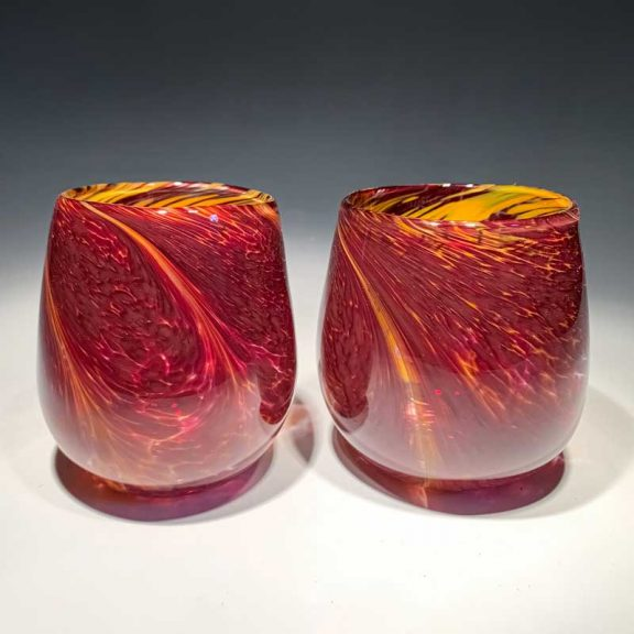 handblown glass flame